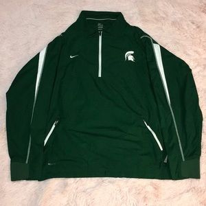 Michigan State Nike Quarter Zip Windbreaker Jacket